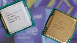 intel 10900k and 11900k on intel box background