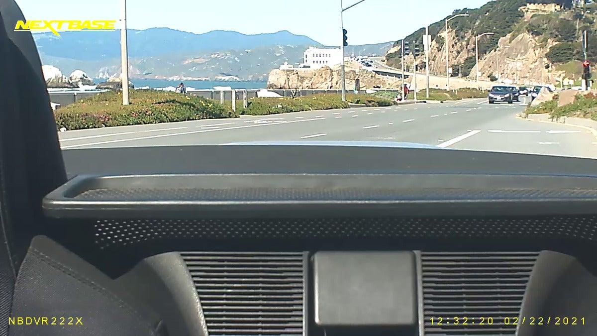 nextbase 222x rear day top down
