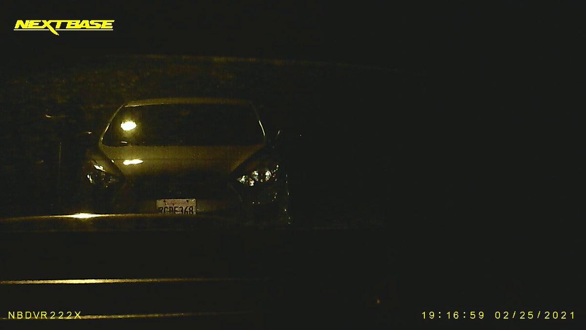 nextbase 222x rear night