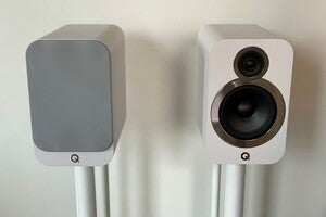 q acoustics 3030i on stands 3