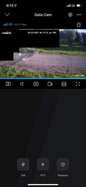 reolink go pt app user interface