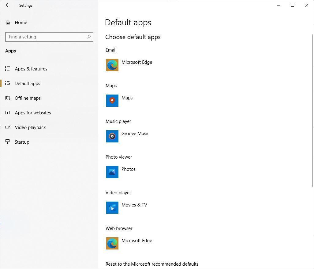 replace edge default browser win10 default apps