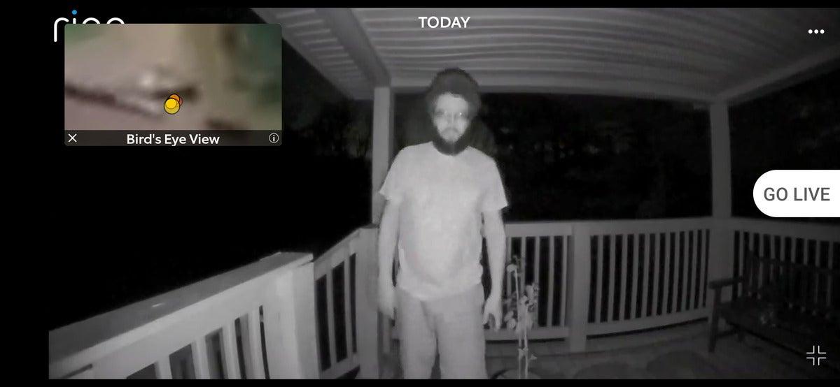 ring video doorbell pro 2 birds eye view