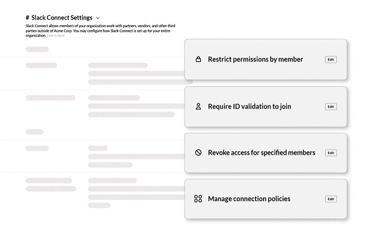 Slack admin restrictions
