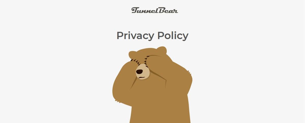 عنوان سیاست حفظ حریم خصوصی tunnelbear