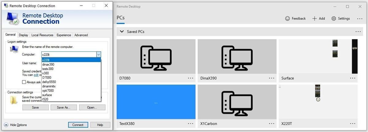 windows remote desktop fig1 rdc and rd app