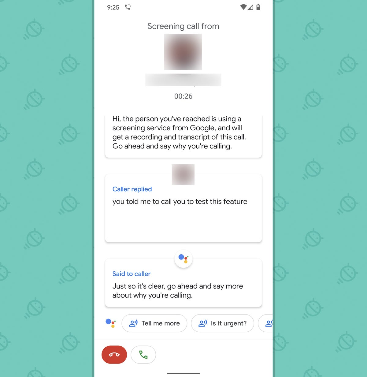 Pixel features: Call screen (manual)