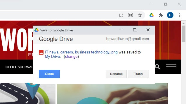 Chrome extensions are saved in google drive