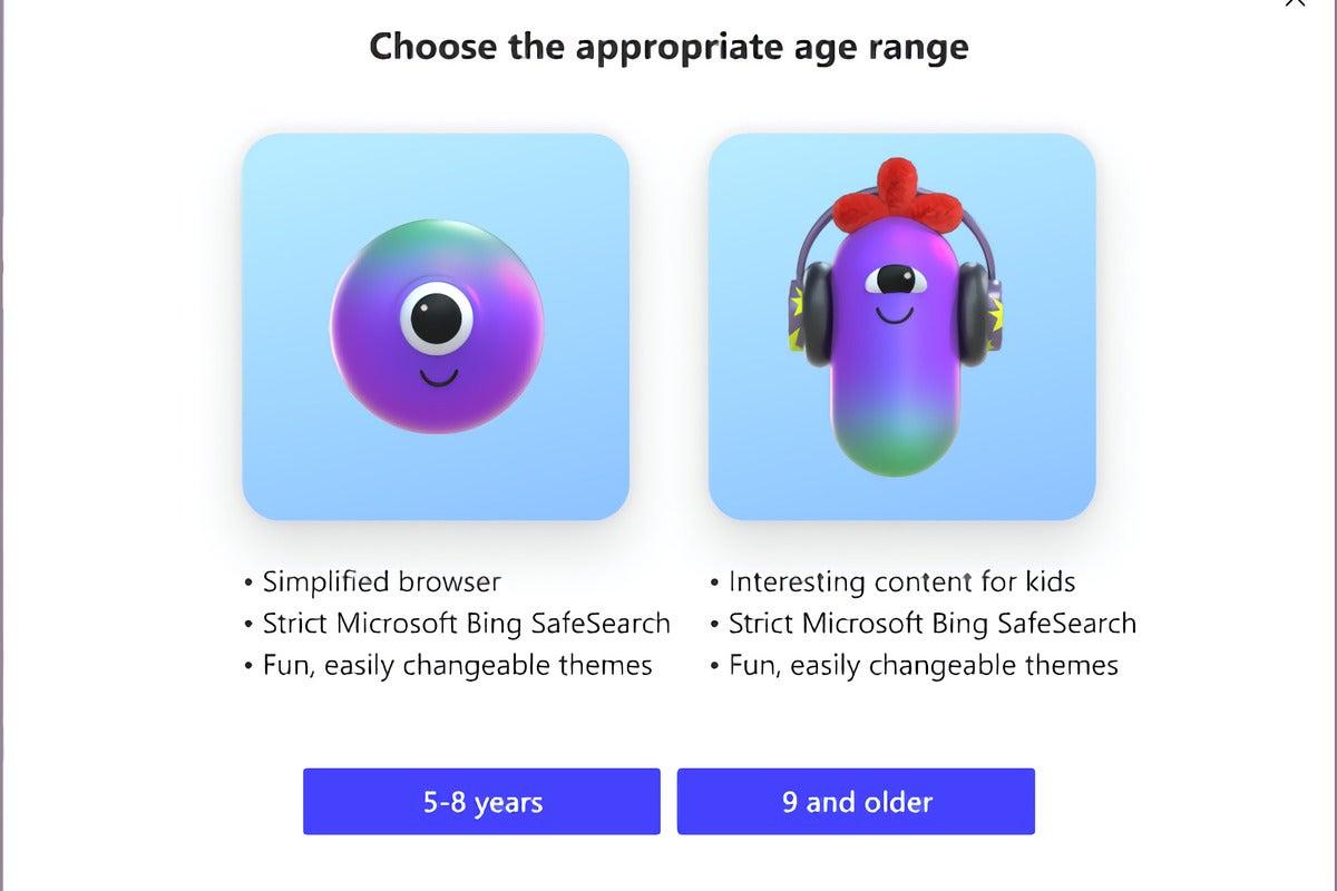 Microsoft edge kids mode enlarged