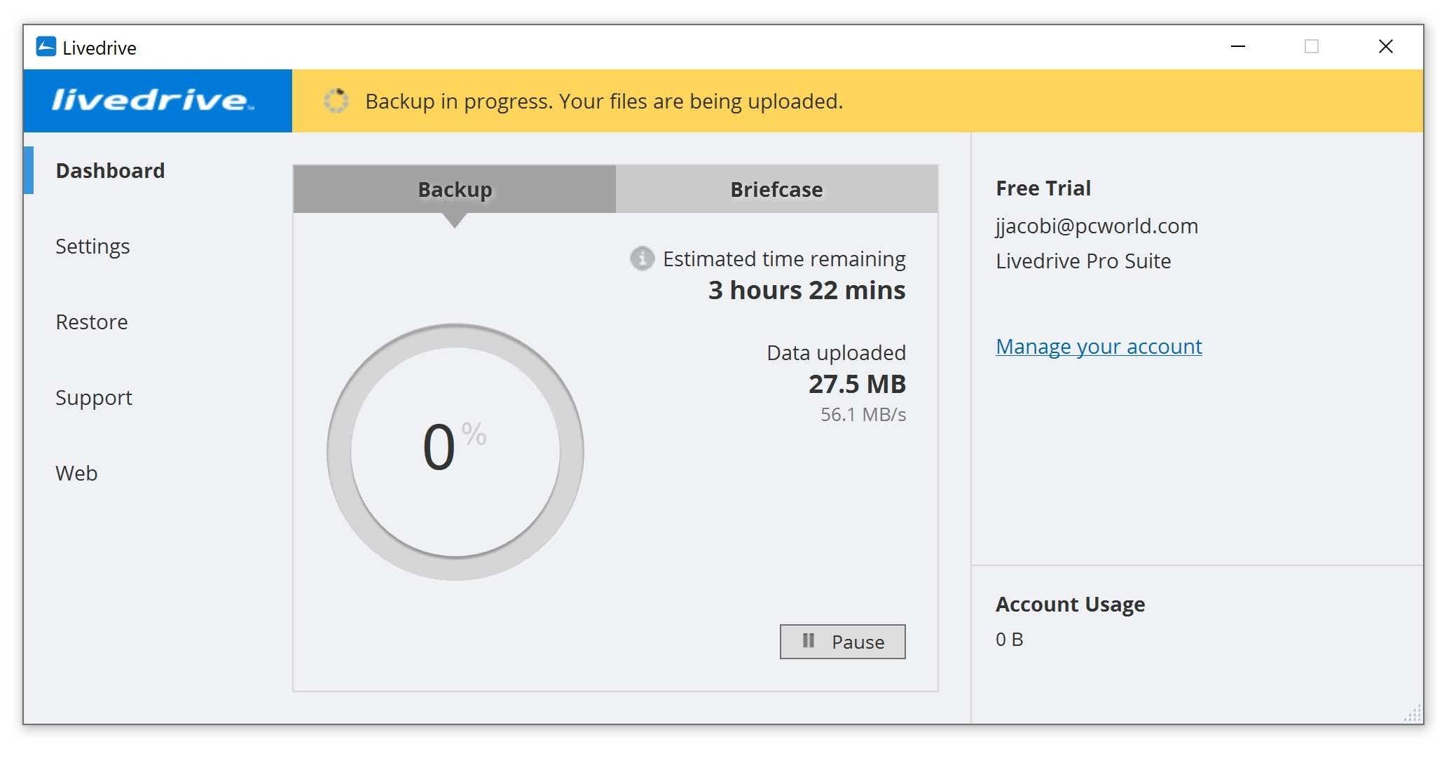 Livedrive online backup