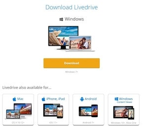 livedrive download page