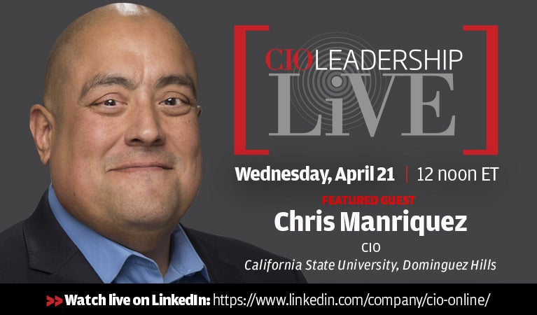 CIO Leadership Live, April 21