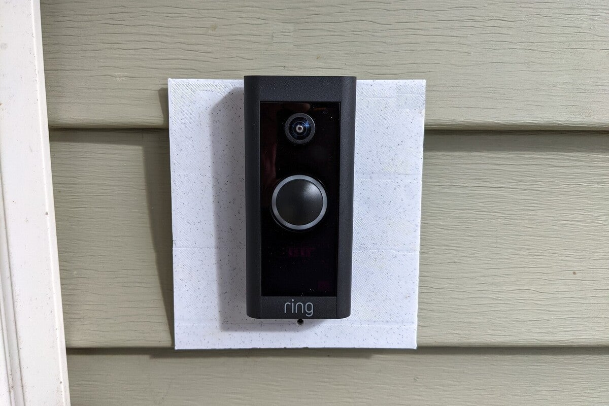 ring video doorbell installed