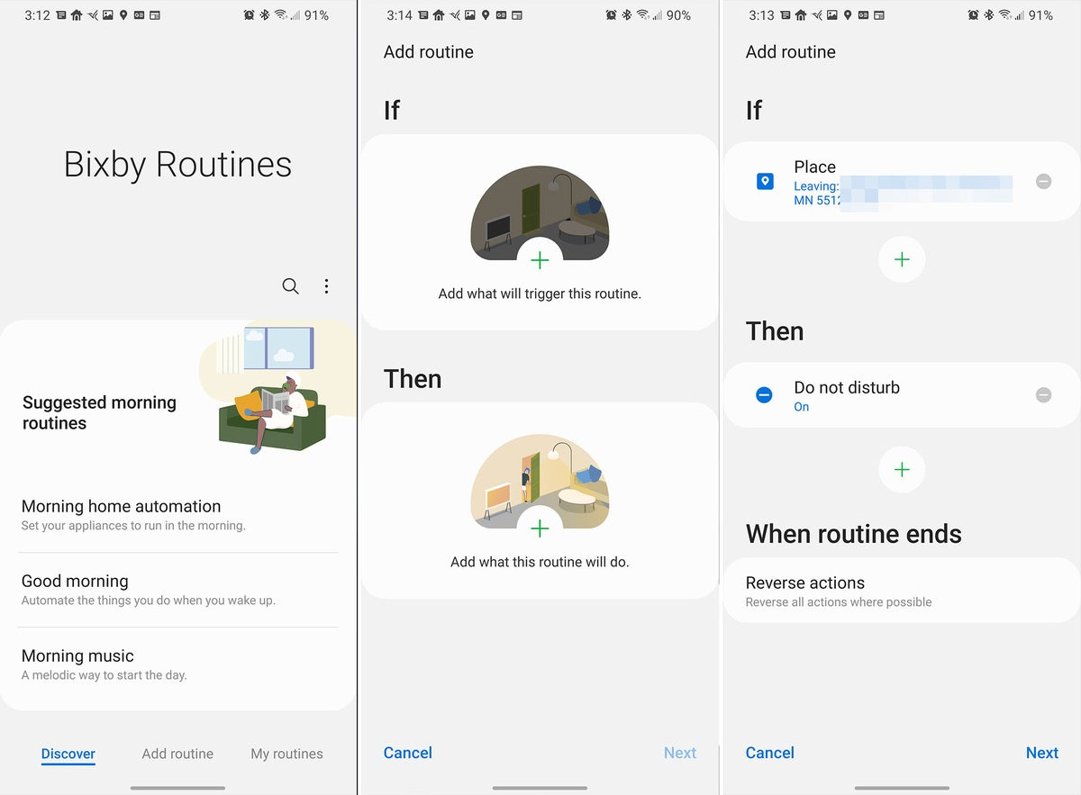 Samsung Galaxy S21 Bixby Routines