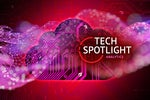 Tech Spotlight   >   Analytics [CIO]   >   Conceptual image of cloud circuits + abstract data.