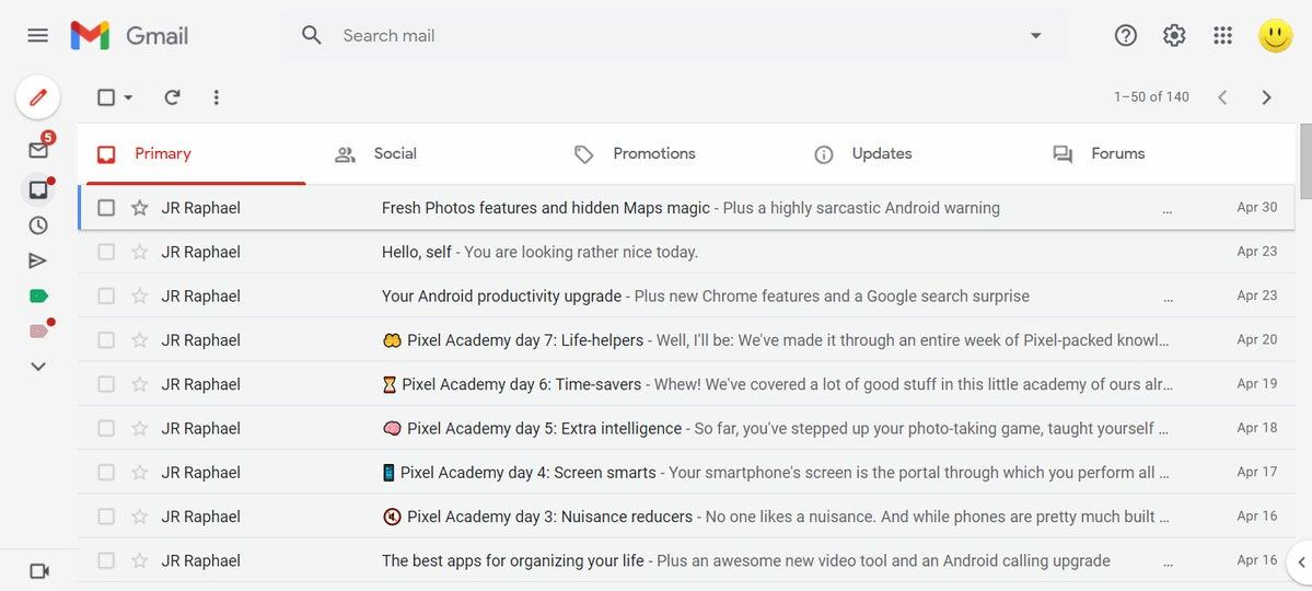 01 bandeja de entrada con pestañas de gmail para empresas