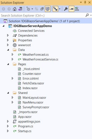 blazor server application 01