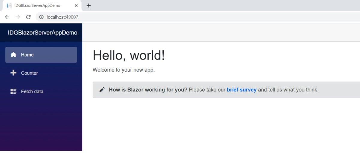 blazor server application 02