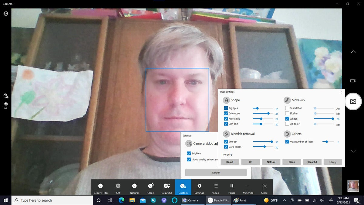 Samsung Galaxy Book Pro 360 camera app with beauty enhancements 2 large