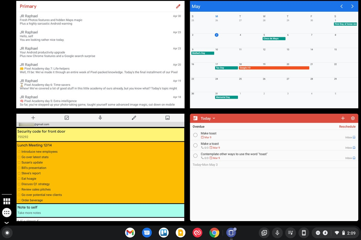 Widgets de Chrome OS (1)