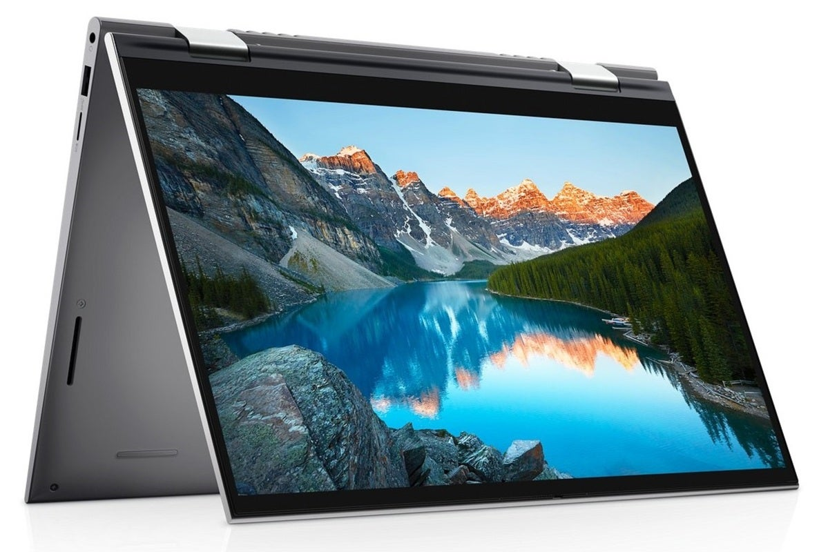 dell inspiron 14 2 in 1 folded angled left