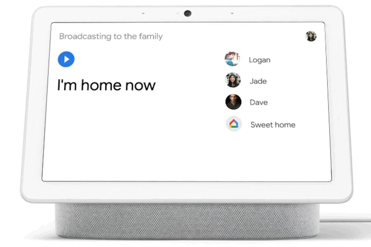 google assistant broadcast