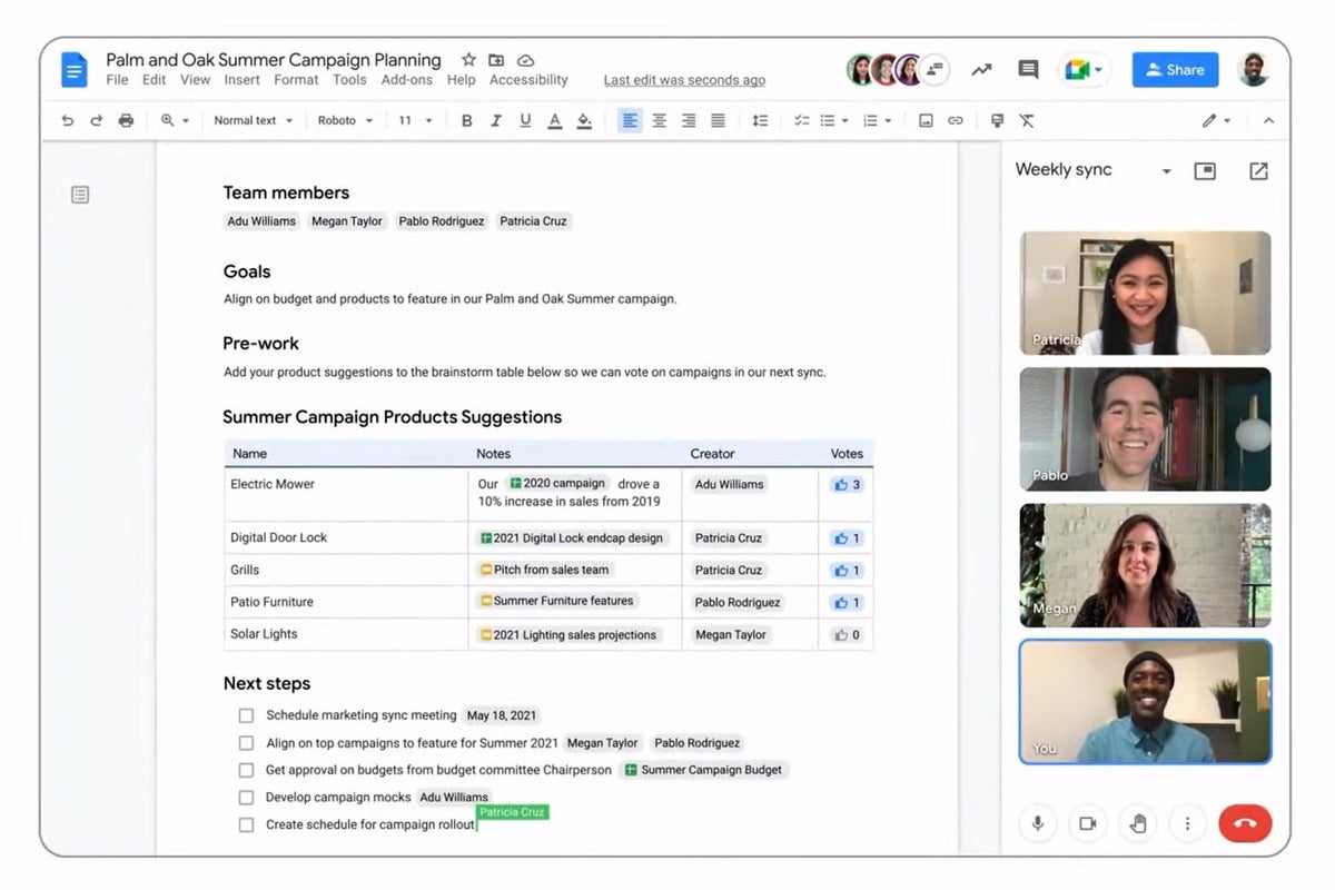 google workspace smart canvas primary