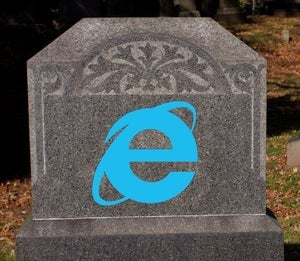 Microsoft IE RIP headstone