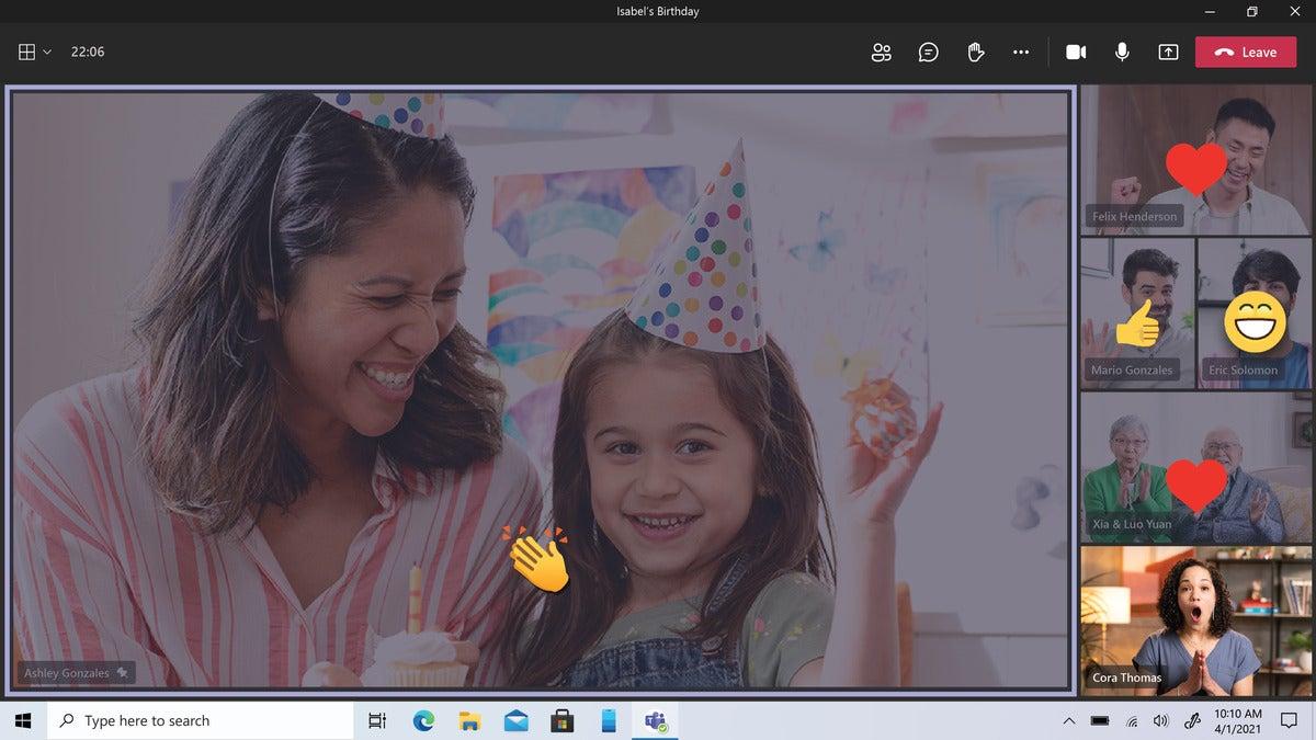 واکنشهای کاربر زنده تیمهای مایکروسافت