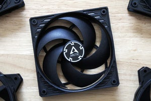 computer case fan with intake side showing
