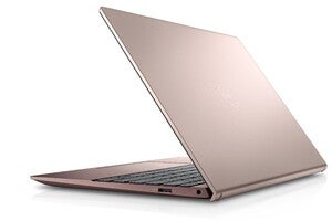inspiron 13 back angled right peach dust