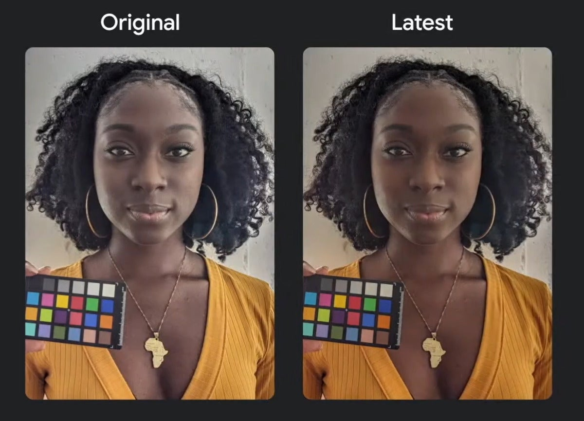 Google io black photos in google pixel