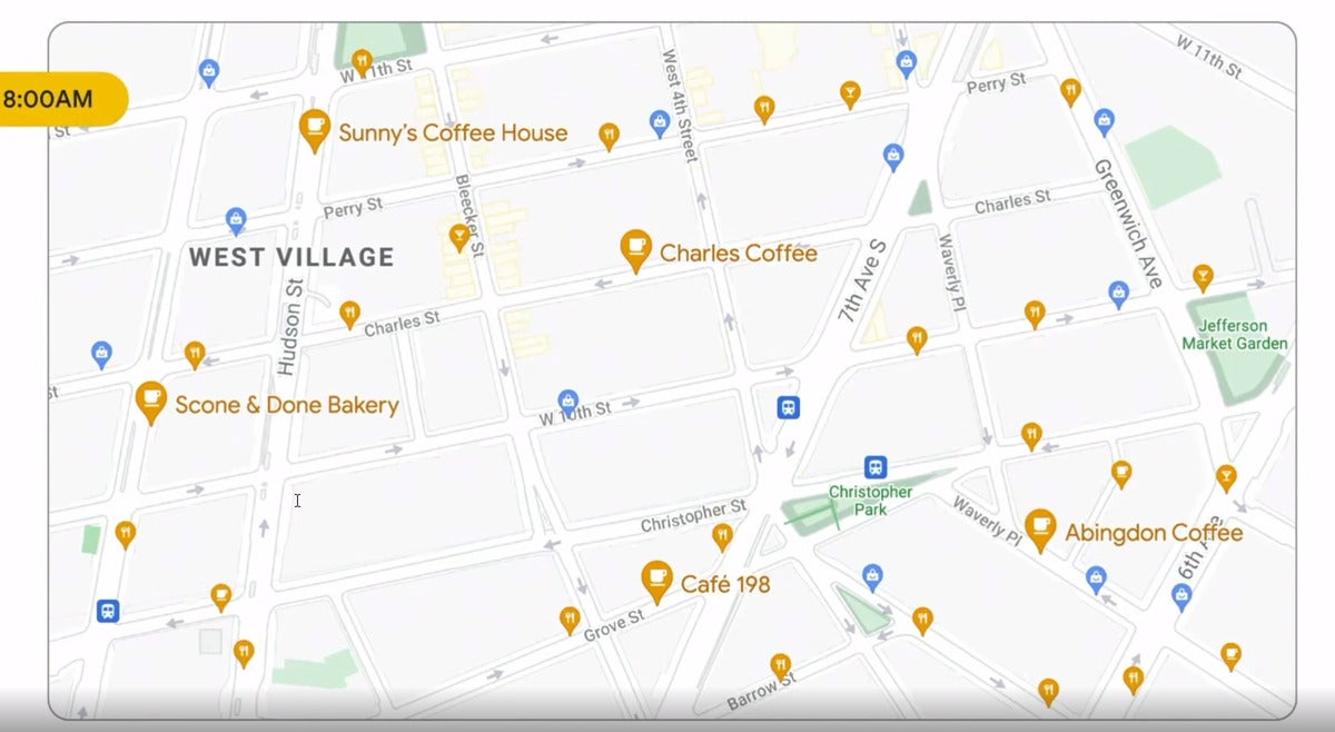 google io maps coffee shops