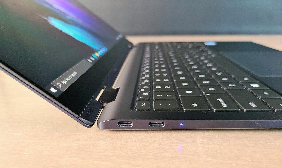 Samsung Galaxy Book Pro 360 left side