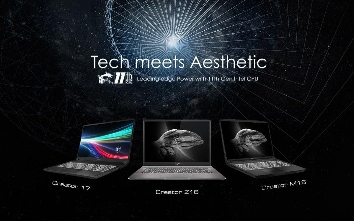 MSI Creator laptops with Tiger Lake H