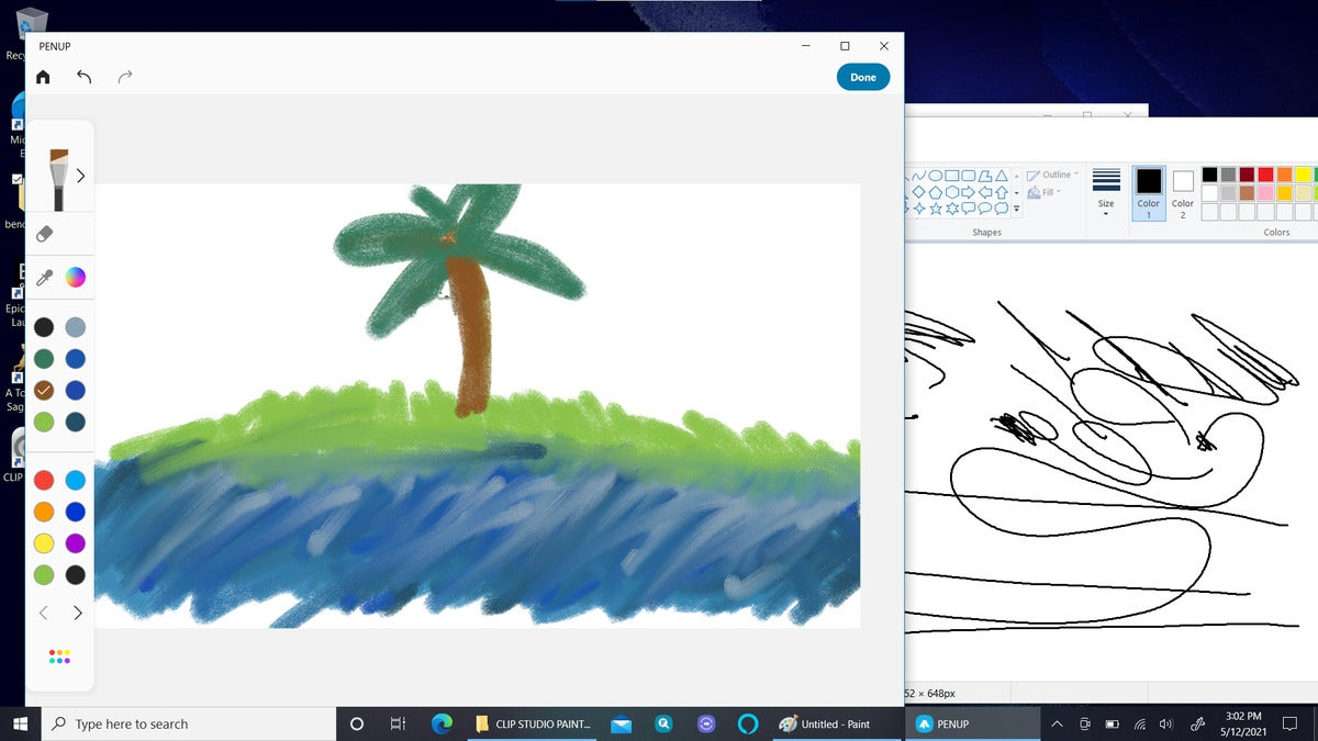 Samsung Galaxy Book Pro 360 penup and paint