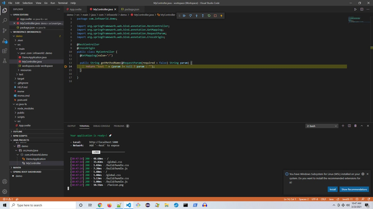 vscode отладка Java