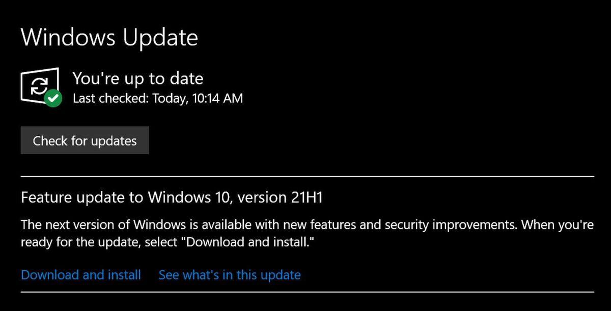 ویندوز 10 را به روز کنید