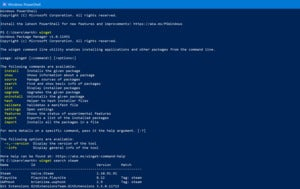 Windows package manager winget microsoft