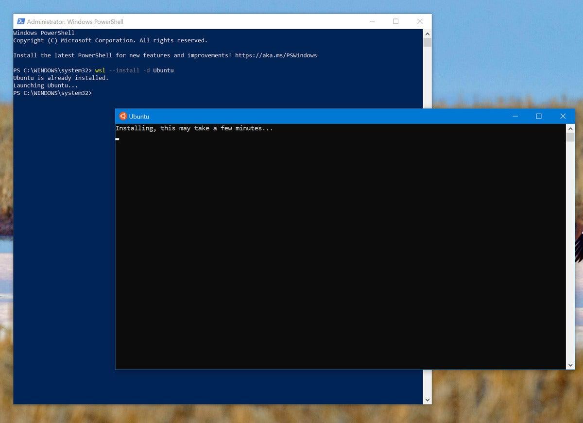 زیر سیستم Microsoft Windows برای راه اندازی linux wsl wsl ubuntu 1