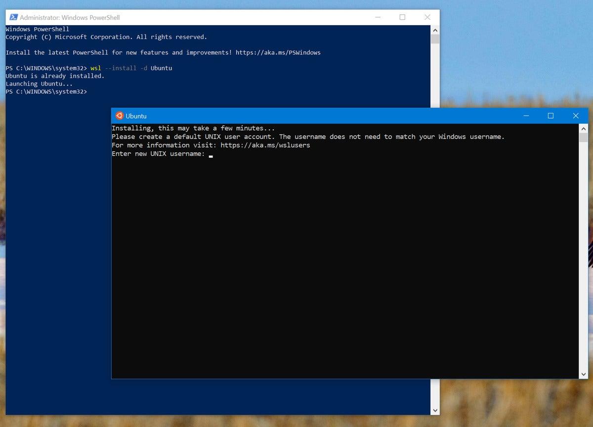 زیر سیستم مایکروسافت ویندوز برای راه اندازی لینوکس wsl ubuntu 2