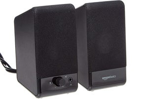 amazon basics computer speakers usb version front view