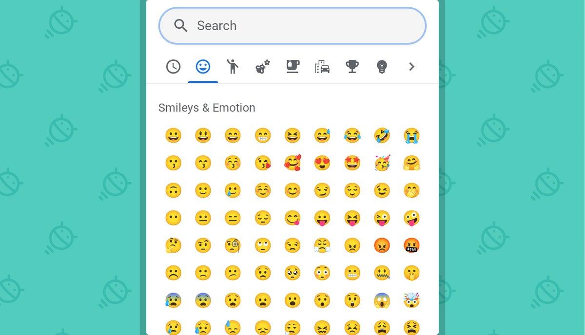 Funciones de Chrome OS: Selector de emojis