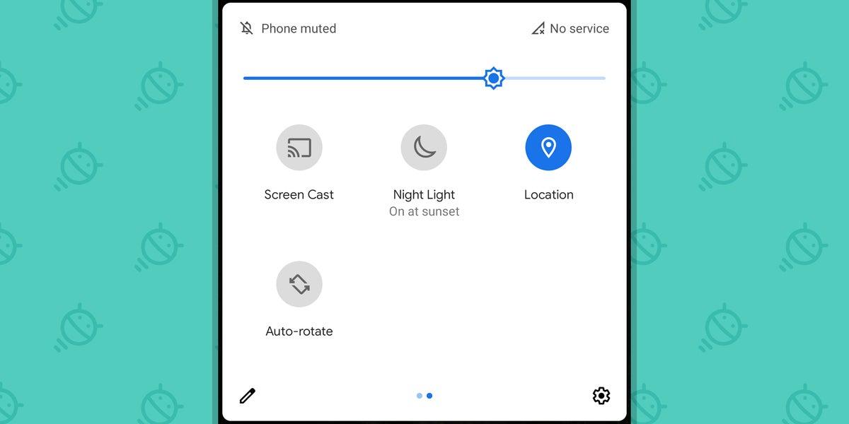 Privacidad de Google Android: alternar ubicación