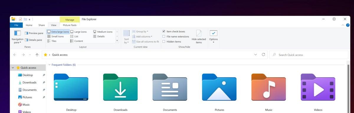 microsoft windows 11 file explorer icons