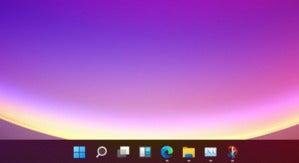 microsoft windows 11 taskbar closeup large
