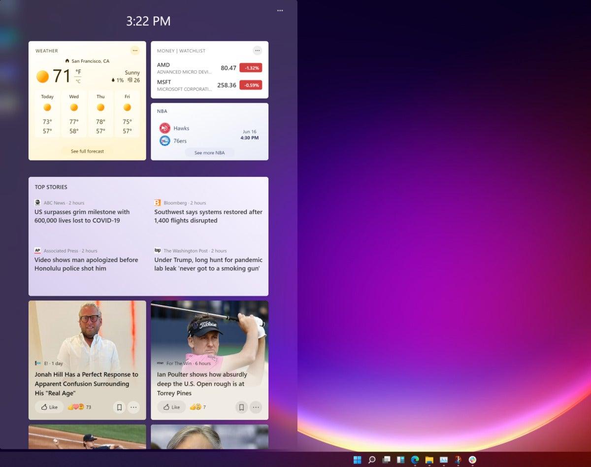 microsoft windows 11 widgets 2 large