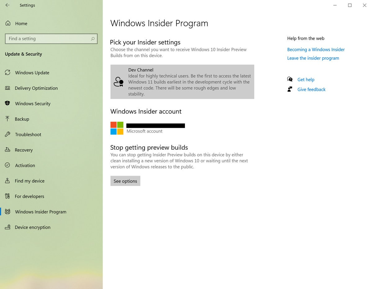 windows 10 insider dev channel windows insider