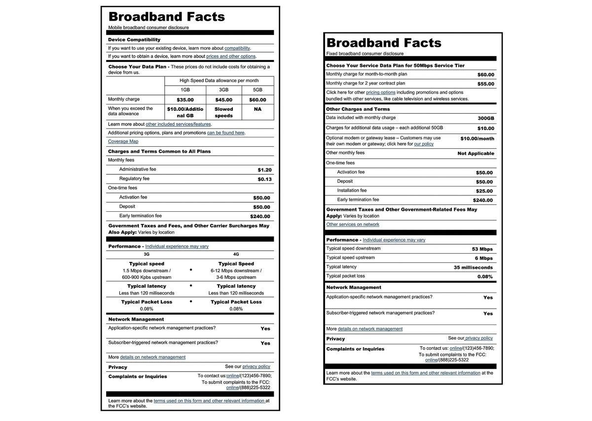 broadband label small