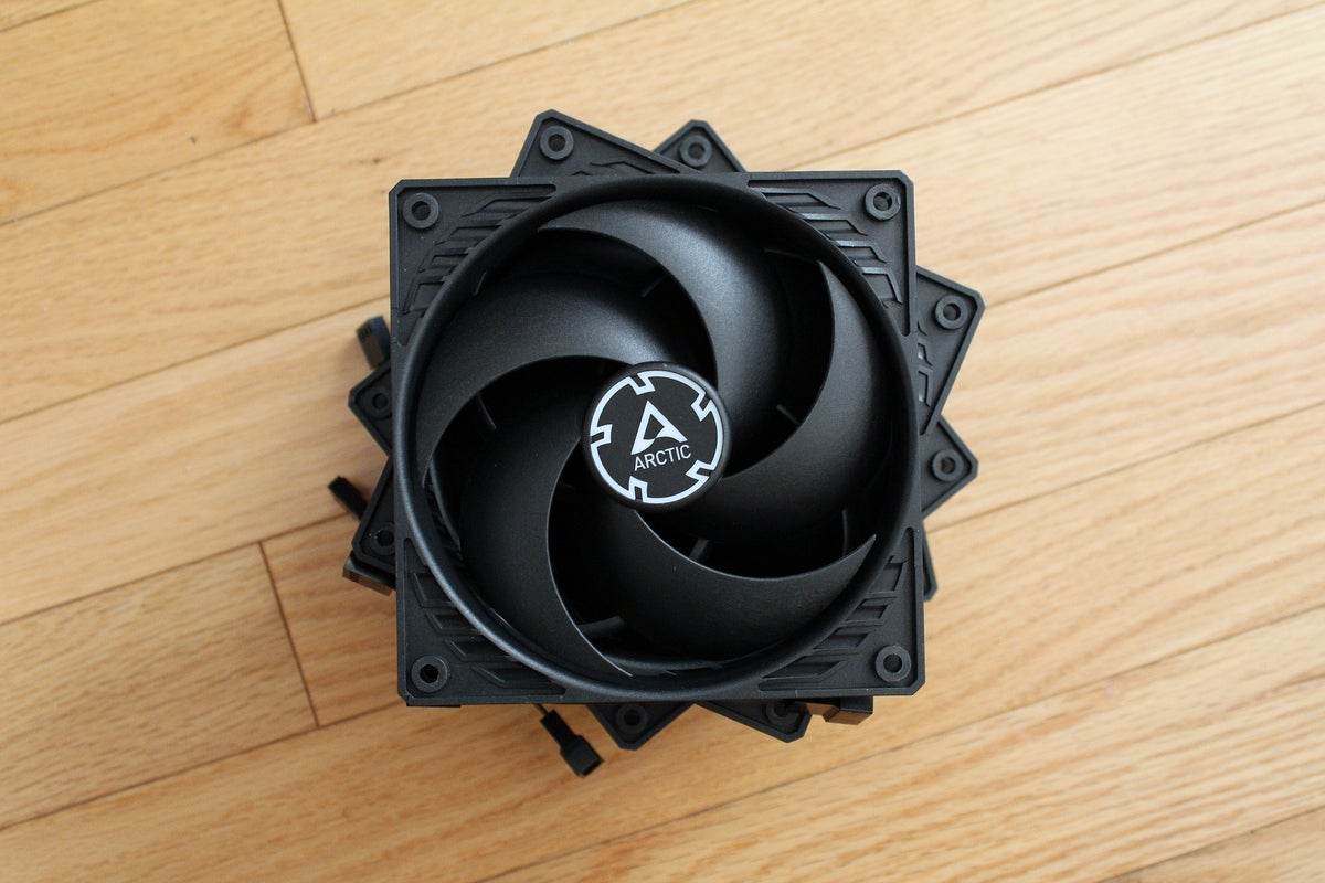 Stack of Arctic P12 case fans